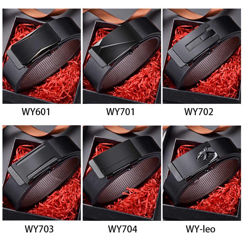 DINISITON di Marca degli uomini della cinghia Automatico Fibbia Originali Cinture In Pelle Per uomo di Alta Qualità di Marca Famosa Maschio Strap Dropshipping