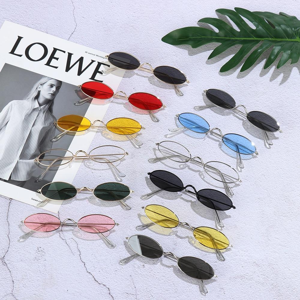 Fashion Vintage Shades Sun Glasses Elegant okulary Retro Small Oval Sunglasses for Men Women Eyeglasses gafas oculos 2