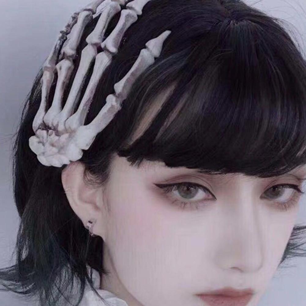 Extra Glitter Gothic Black Rose Hair Accessory Glitter 3 Finish Options Available: No Glitter Peeking Eyeball Hair Clip