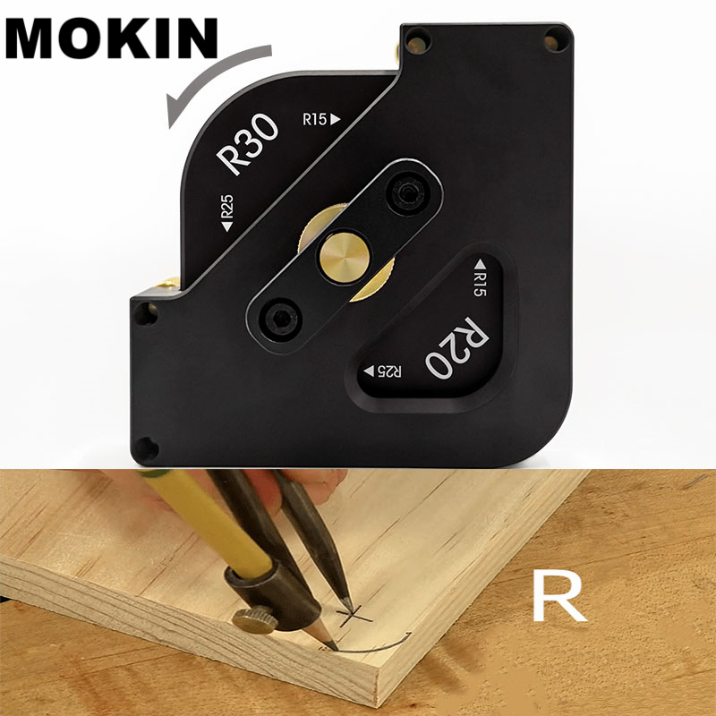 Aluminium Alloy Radius Quick-jig Chamfer Profile Arc Angle Template Locator Jig Woodworking Router Table Trimming Tools