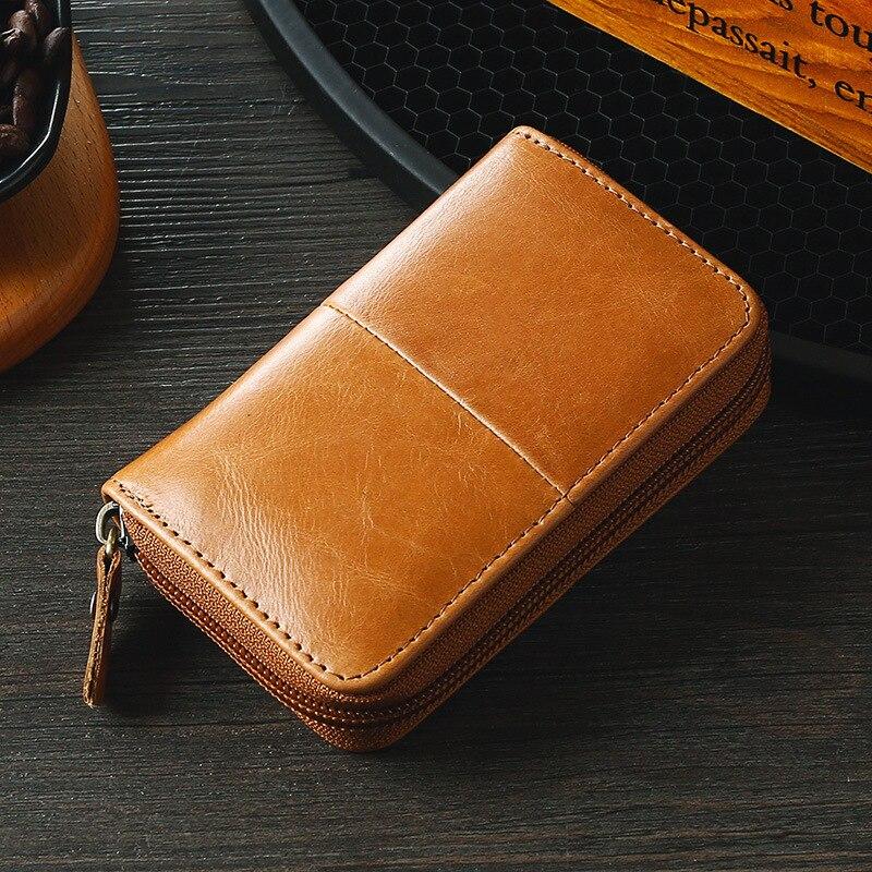Vintage Oil Wax Leather Wallet