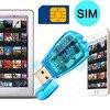 SIM Card Reader Writer Cloner Back Adapter Mobile Phone Card Readers USB Mobile Cell Phone SMS Contacts