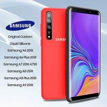 SAMSUNG A9 2018 Case Original Official Genuine Silicone Soft Samsung Galaxy A6 A8 Plus A7 A730 A750 A9200