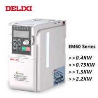 Преобразователь частоты DELIXI 0,4/0,75/1,5/2.2kw AC 220V однофазный 50HZ 60HZ регулятор скорости VFD переменный преобразователь для двигателя