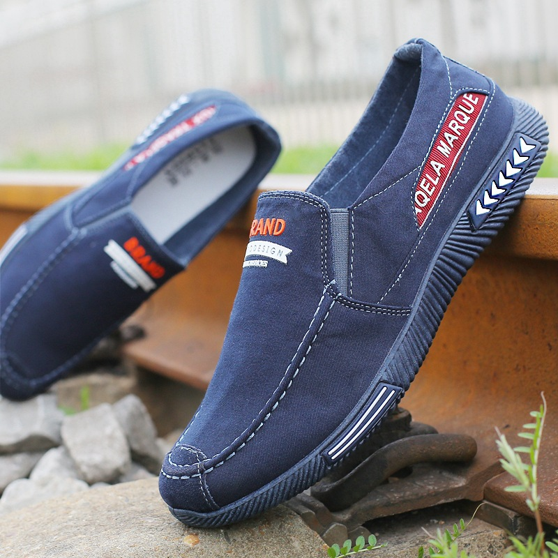 Denim Men Casual Shoes Comfort Canvas Shoes Men Loafers Fashion Sneakers Men Casual Sneaker Male Shoes Adult Walking Shoes 2020