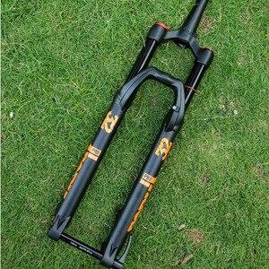 ELYON 100*15 мм 27,5/29 дюймов Велосипедная вилка воздуха горный велосипед MTB Велосипедная вилка передней подвески ход 140 мм плеча проволочная пружи...