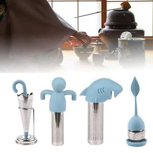 Tea-Infuser SPICE-FILTER Herbal Novelty Sweet Silicone Reusable Leaf with Drop-Tray Tea-Ball