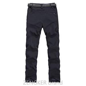 Image 2 - אביב חורף בתוספת גודל מכנסי קזואל זכר עבה עמיד למים מכנסיים sandtroopers גדול גודל רך פגז מכנסיים זכר 9XL 8XL 7XL