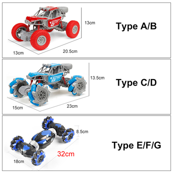 2.4GHz 4WD RC Car Radio Gesture Induction Music Light Stunt Twist Remote Control Car Road Drift Vehicle RC Gifts for Children 6