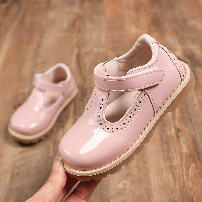 2020 New Spring Baby Fashion Little Girl Dress Shoes Party Wedding Toddler Princess Kids Patent Leather Shoe 1 2 3 4 5 6 Years