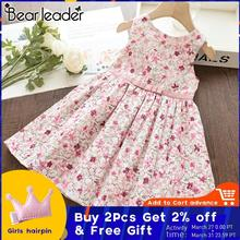 цены Bear Leader Girls Dress New Summer Kids Girl Princess Dresses Floral Sweet Dress Lovely Casual Costume Children Clothing 3 8Y