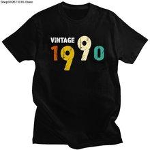 Винтаж родившиеся в 1990 футболка для мужчин рубашка с короткими