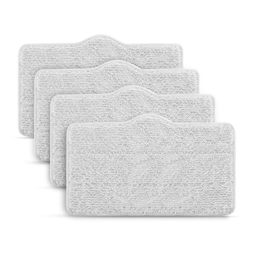 4pcs Original Replaceable Mop Pads For Deerma DEM - ZQ610 / ZQ600 Steam Cleaner Washable & Reusable With Solid Freshener Tablet