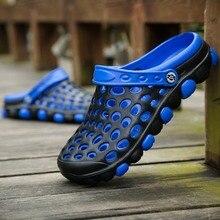 Оригинальные садовые Вьетнамки; быстросохнущая водонепроницаемая обувь; мужские прозрачные спортивные летние пляжные шлепанцы; уличные сандалии; обувь без шнуровки
