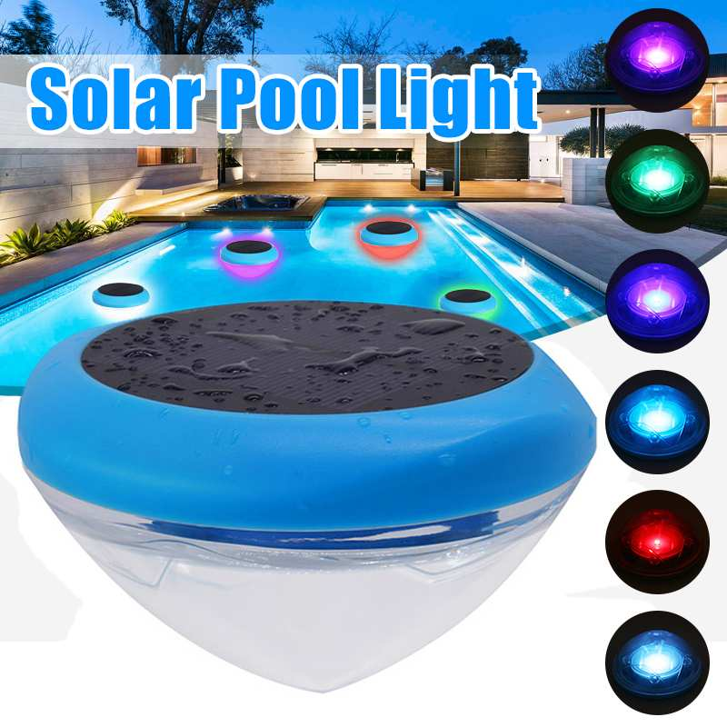 RGB Solar LED Floating Pool Light Solar Powered Colorful Swimming Underwater Lamp IPX6