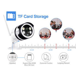 "Image 5 - Techege סופר HD 5.0MP Wifi IP מצלמה חיצוני עמיד למים Wired אבטחה אלחוטית מצלמה מתכת שני בדרך אודיו TF כרטיס דוא""ל התראה"