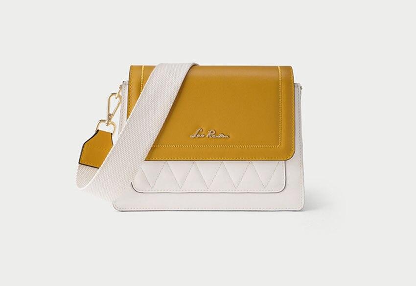 LAORENTOU women leather bag  2020 new fashion contrast color crossbody bag Wild single shoulder bag Small fresh messenger bag 8