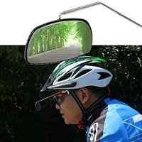 Очки для езды на велосипеде, из алюминиевого сплава, с обзором заднего вида, крепление на шлем 360, регулировка зеркала заднего вида N9J0