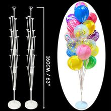 160CM Birthday Balloon Column Kit Plastic Balloon Arch Stand with Base Pole for Wedding Birthday Party Latex Ballons Decoration
