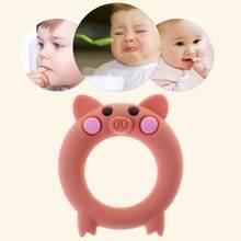 Детский Прорезыватель для зубов Пищевая силиконовая мультяшная