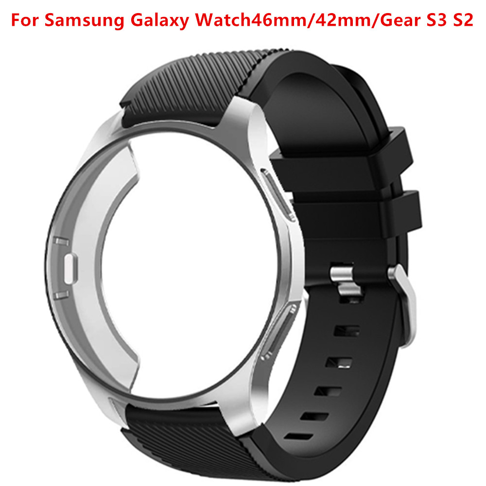 22mm 20mm Gear S3 Frontier Case+strap For Samsung Galaxy watch 46mm 42mm watch band All-Around protective watch accessories 46