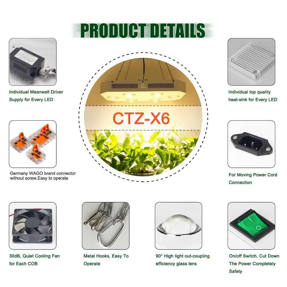 COB LED Grow işık Citizen 1212 tam spektrum 300W 600W 900W 3500K 5000K = HPS büyüyen iç mekan lambası bitki Veg çiçek aydınlatma