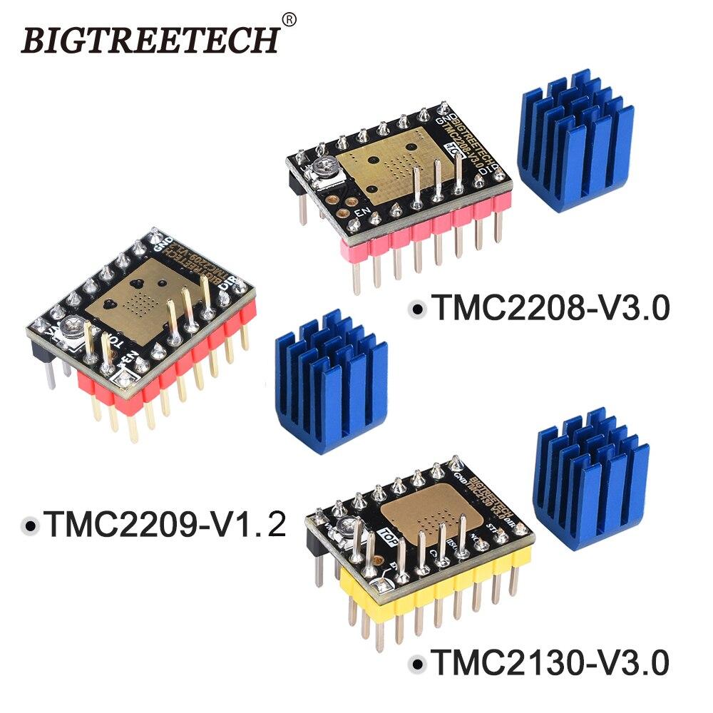 Bigtreetech tmc2208 v3.0 tmc2209 uart tmc2130 spi stepper driver do motor de passo mudo para skr v1.3 pro mks 3d placa-mãe