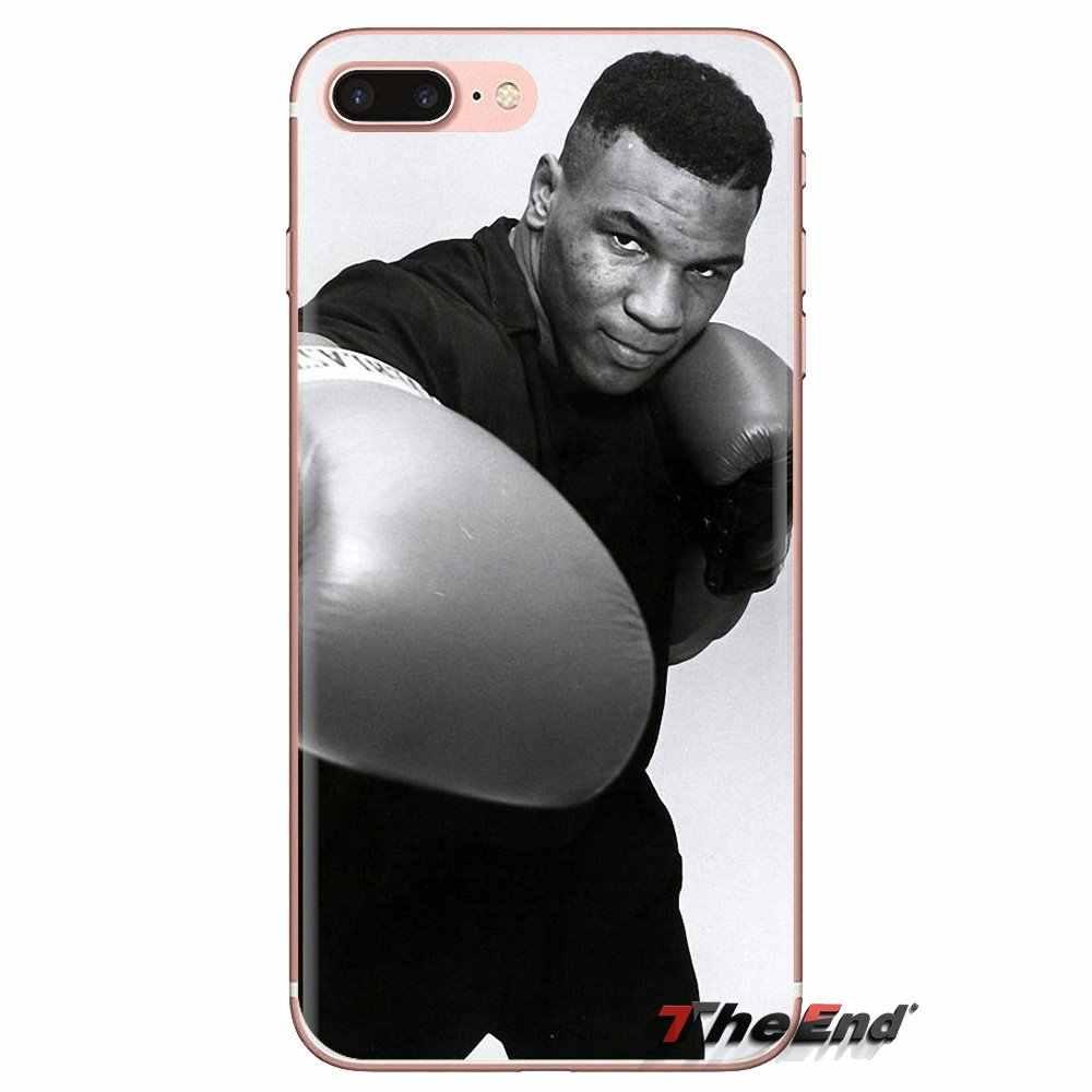 De silicona cubierta de la cáscara del teléfono para Huawei Mate Honor 4C 5C 5X6X7 7A 7C 8 9 10 8C 8X20 Lite Pro micrófono Tyson Pro patrón de estrella de boxeo