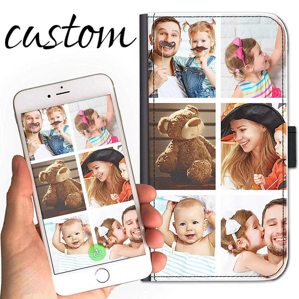 Personalized Photo Cell <font><b>Case</b></font> for ip 11 PRO MAX Custom Image on Leather Side Flip <font><b>Wallet</b></font> <font><b>Case</b></font> For ip 4 5g 5s <font><b>5c</b></font> se 6g 6s 7 8 PLUS image
