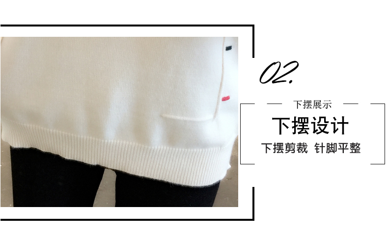 Sweaters women's 19 new fashion Korean loose autumn winter knitting bottoms wear Western clothes 8