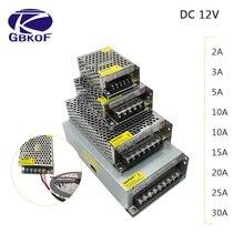 Adaptateur secteur de conducteur de bande de LED de cc 12V 1A 2A 3A 5A 10A 15A 20A commutateur alimentation AC110V 220V 24V transformateur puissance 60W 78W 120W