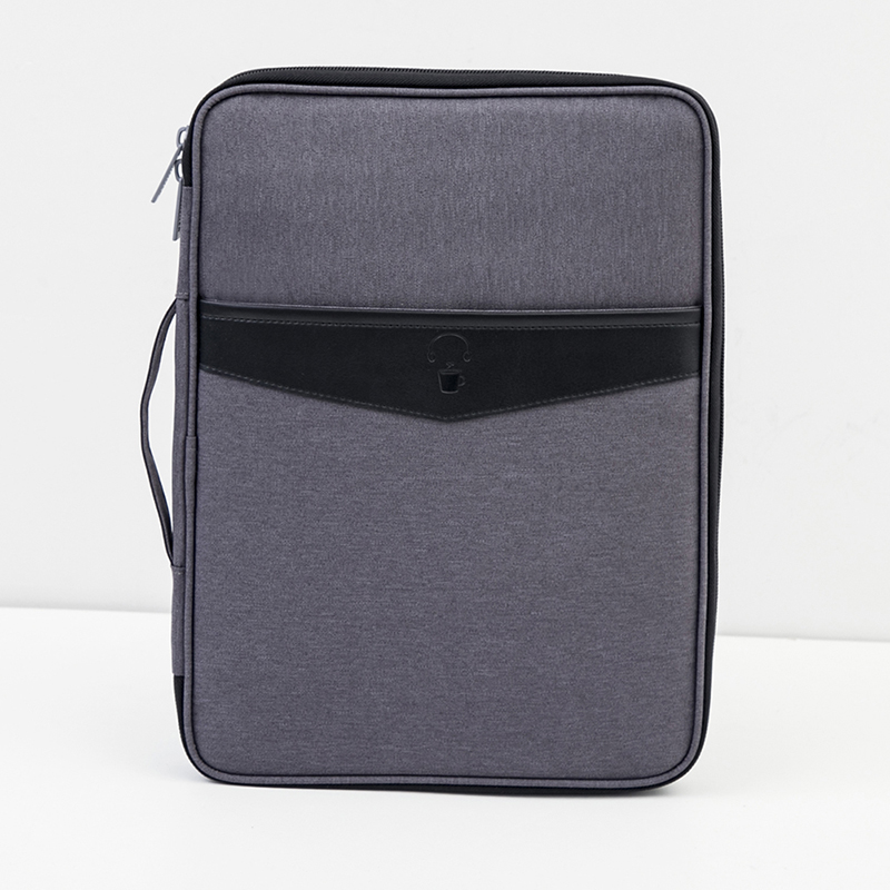 High Quality Solid Big Capacity Document Bags Waterproof Passport Holder Men Business Briefcase travel Accessories