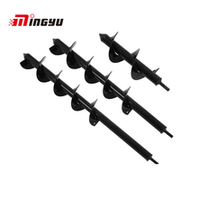 MingYu 8 9 10mm Thick Auger Garden Ground Drill Bit For Flowers Planting Hole Drilling Tool Gardening Bedding Plants Hole Opener