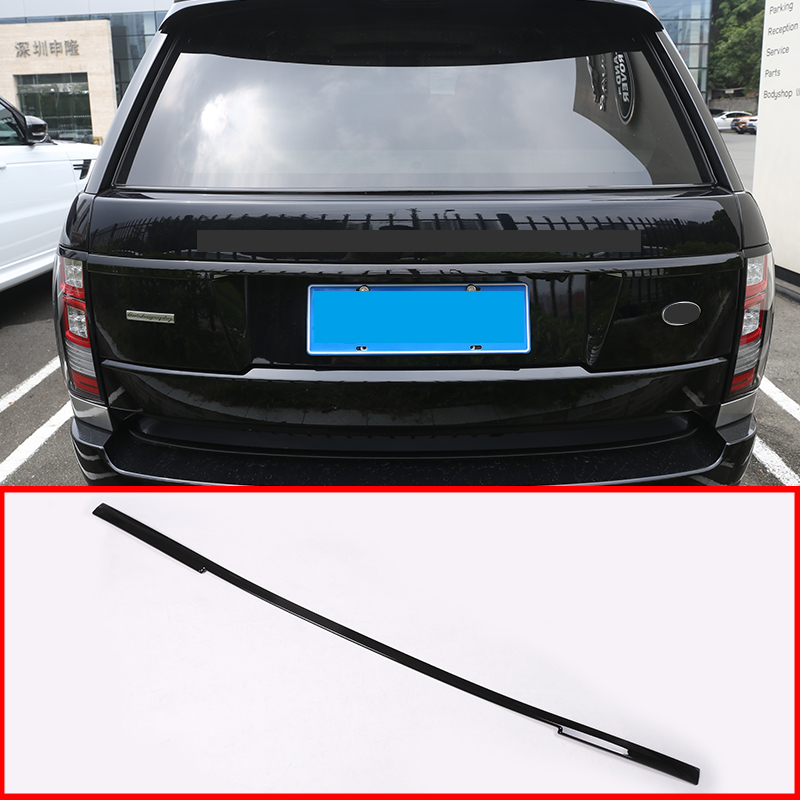 Gloss Black ABS Rear Tail Door Decoration Strips Car-Styling Accessories For Landrover <font><b>Range</b></font> <font><b>Rover</b></font> <font><b>Vogue</b></font> <font><b>L405</b></font> 2013-2017 image