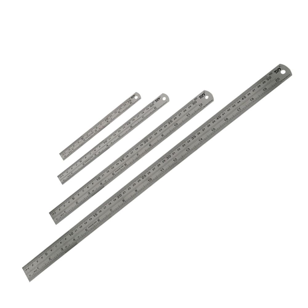 Lot de 4 r/ègles en acier inoxydable /à bord droit 15,2 cm 20,3 cm 30,5 cm 40,6 cm