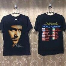 Novo-vtg rare-t camisa phil collins concert 90 preto impressão eua sz-topo