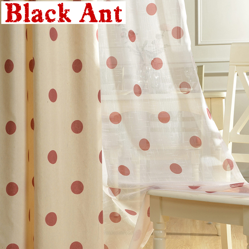Cute Dots Curtain For Kids Room Window