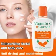 Crema Corporal blanqueadora de zanahoria con vitamina C, loción blanqueadora para piel, crema hidratante brillante para la piel, 100g, M6J7