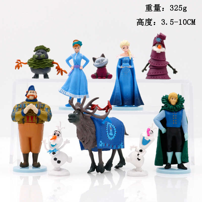 דיסני קפוא 2 סט אלזה אנה כחול סלמנדרות ברוני נסיכת בובת אולף Kristoff פעולה איור מתנת יום הולדת צעצועים לילדים
