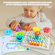 Set Chess-Games-Set Elimination Rainbow-Ball Puzzle Wooden Kids for Boys Girls Flying