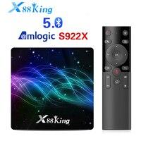 X88 King Android 9 TV Box Amlogic S922X 4GB 128GB Set Top Box X88 King BT5.0 1000M 4K Google Play Store Netflix Youtube TV Box