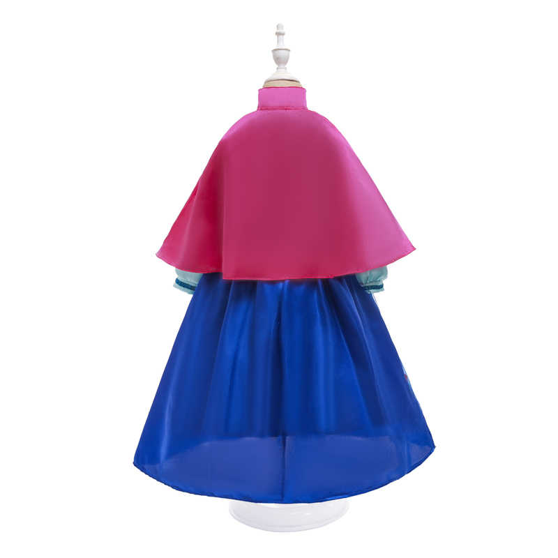 王女アンナと女の子のためのパーティー衣装ハロウィンコスプレドレスアップ岬誕生日ファンシー雪の女王女の子服