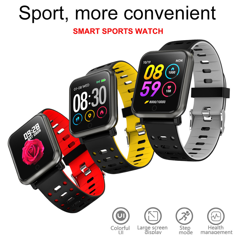 HETNGSYOU P11 Smart Uhr <font><b>IP68</b></font> Wasserdicht Heart Rate Monitor Fitness tracker Männer Schwimmen <font><b>Smartwatch</b></font> für iPhone Android-handy image