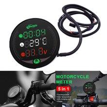 5 In 1 Motorcycle Multi Function Meter Water Temperature Time Voltmeter For Suzuki dl 1000 650 SV1000 sv 1000 650 SV650 SFV650