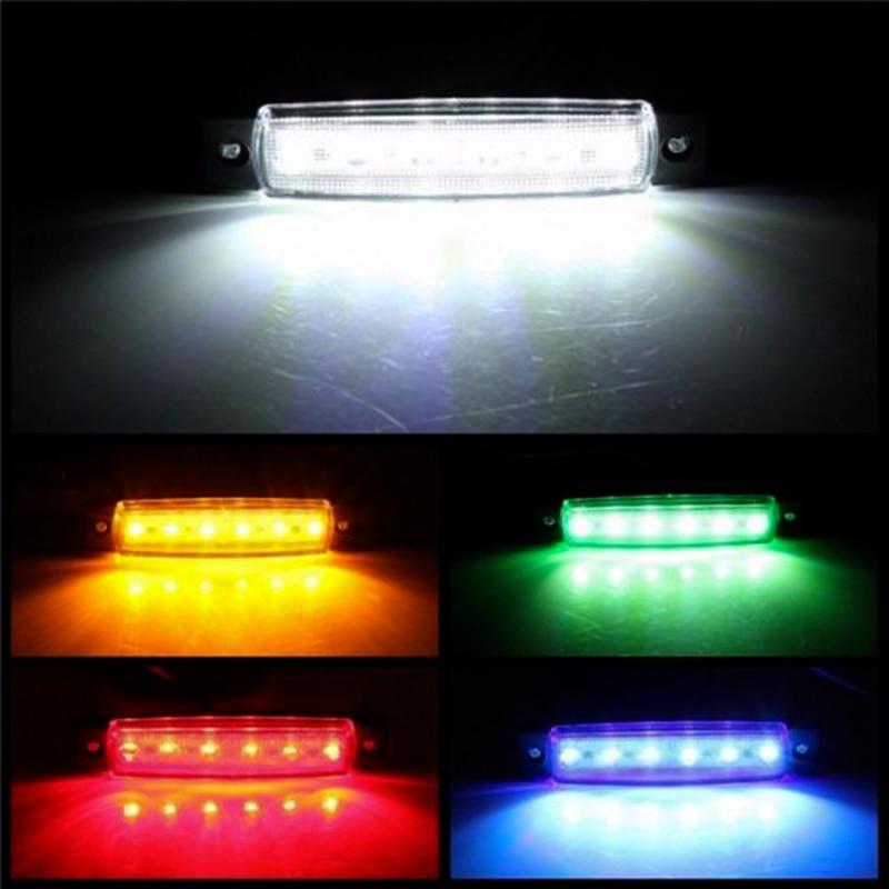 As luzes externas do carro conduziram 12v/24v 6 smd conduziram a luz traseira do lado do caminhão do ônibus do carro do auto