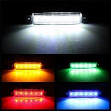 Feux extérieurs de voiture LED 12V/24V 6 SMD LED, feu de signalisation arrière pour remorque basse, Bus, camion, indicateur latéral