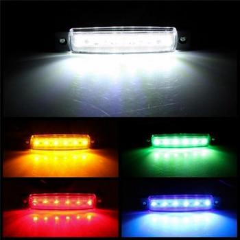 цена на Car External Lights LED 12V/24V 6 SMD LED Auto Car Bus Truck Lorry Side Marker Indicator low Led Trailer Light Rear Side Lamp