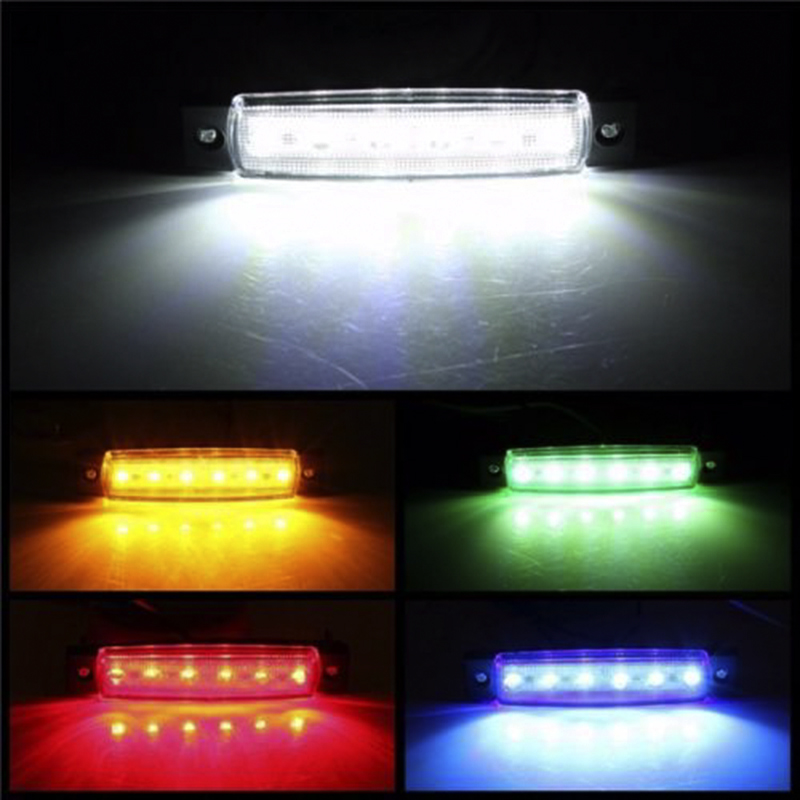 Car External Lights LED 12V 6 SMD LED Auto Car Bus Truck Lorry Side Marker Indicator Low Led Trailer Light Rear Side Lamp