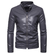 Winter Leather Jacket Men Fur Pu Jackets Coat Chaqueta DeCuero Para Hombre ManMens