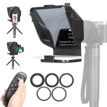 Ulanzi Portable Teleprompter Prompter for Smartphone/Tablet/DSLR Camera Video Recording Live Streaming Interview with Remote